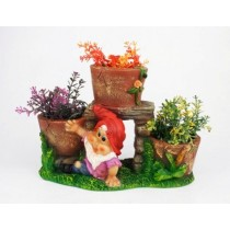 Three Pot Gnome Planter