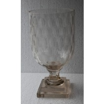 Thumb Cut Medium Size Glass Candle Holder