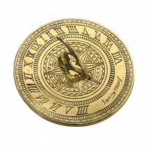 Traditional Design Brass Polished Garden Sundial