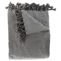 Transitional Style Charcoal And Slate Throw