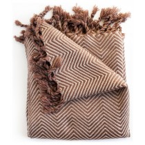 Transitional Style Chocolate and Taupe Color Throw