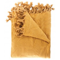 Transitional Style Golden Color Throw