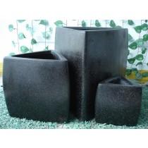 Triangle Shape Fiber Stone Pots Set of 3 Pcs