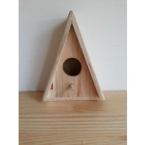 Triangle Shape Fir Wood Bird House