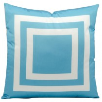 Turquoise 20 Inch Square Shape Polyester Cushion