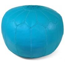 Turquoise Round Floor Pouf