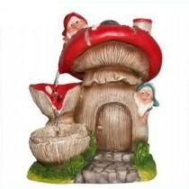 Two  Gnome Garden Sculptural Fountain