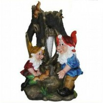 Two White Beard Garden Gnome Sculpture