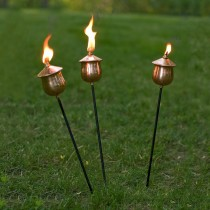 Unique Black Copper Garden Torch