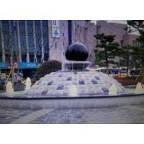Unique Black Marble Garden Sculpture
