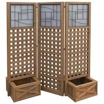 Unique Design 3-Panel Screen With Planter Boxes