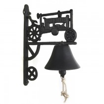 Unique Design Black Cast Iron Garden Bell