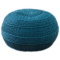 Unique Design Blue Cotton Floor Pouf