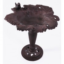 Unique Design Cast Iron Rustic Finish Bird Bath