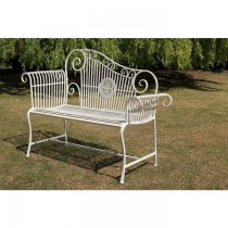 Unique Design Iron Garden Bench Height 40 Inch