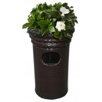Unique Design Wicker Trash Bin