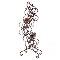 Unique Design Wrought Iron 12 Bottle Wine Rack