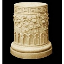 Unique  Floral Design Sandstone Pedestal(H 800 X 450 mm)