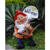 Unique Garden Gnome Welcome Message Board