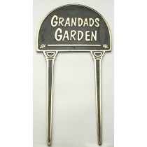 Unique Grandads Garden Brass Garden Tag