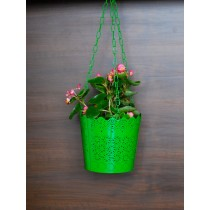 Unique Green Lace Pattern Hanging Planter