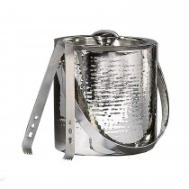 Unique Hammered Stainless Steel Ice Bucket