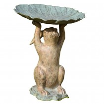 Unique Rabbit Holding Birdbath
