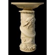 Unique Sandstone Dragoon Pedestal Flowerpot