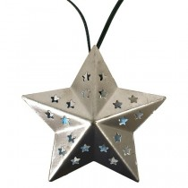 Unique Solar Metal Star String Lights Set
