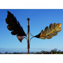 Unique Winged Leaves Plated Copper Weathervanes