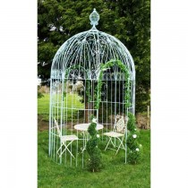 Vintage Light Blue Finish Metal Gazebo