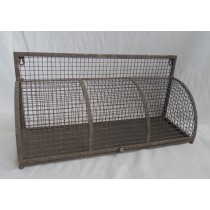 Vintage Retro Style Metal Storage Wire Shelf