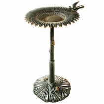 Vintage Sunflower Design Birdbath
