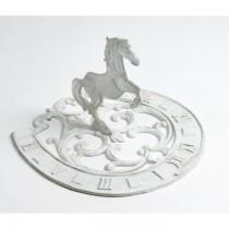 Vintage White Horse Design Garden Sundial