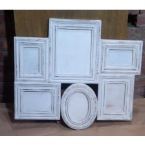 Vintage White Different Shape Wooden Photo Frames