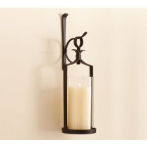 Wall Mount Pillar Lantern Candle Sconce