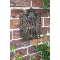 Wall Mounted Antique Brass Sundial