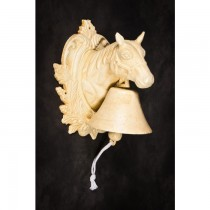 Wall Mounted Cast Iron Horse Bust Garden Bell