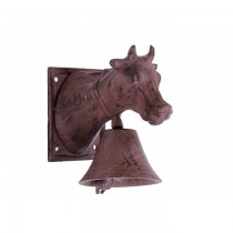 Wall Mounted Cow Rustic Cast Iron Garden Bell