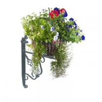 Wall Mounted Handmade Wrought Iron Round Hanging Basket