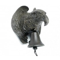 Wall Mounted Rustic Cast Iron Eagle Garden Bell