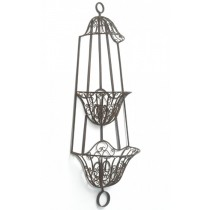 Wall Mounted Rustic Finish Hanging Basket