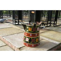 Watering Can Shape Medium Hand Painted Metal Planter
