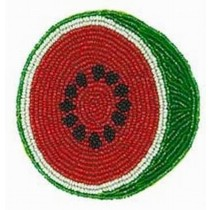Watermelon Beaded Christmas Costar Set of 6 Pcs