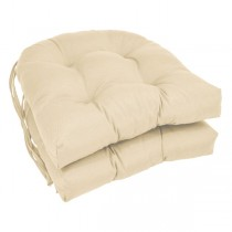White 16 Inch U Shaped Cushion With Ties