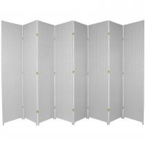 White 7 Feet - Tall Woven Fiber 8 Folding Panel