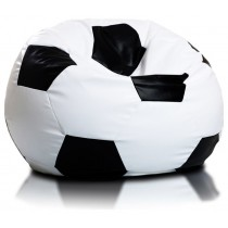 White And Black Soccer Ball Beanbag
