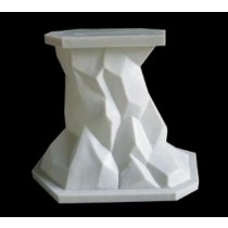 White Artificial Sandstone Rock Style Pedestal