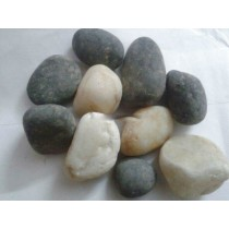 White & Black River Pebbles