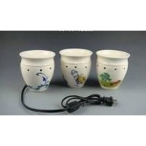 White Ceramic Designer Electric Wax Warmer Oil Burner(Set Of 3)